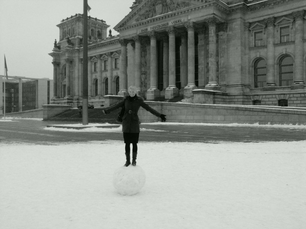 Snow in Berlin - where for some strange reason, the whole city doesn't grind to a standstill