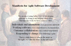 "The agile manifesto ""values"""